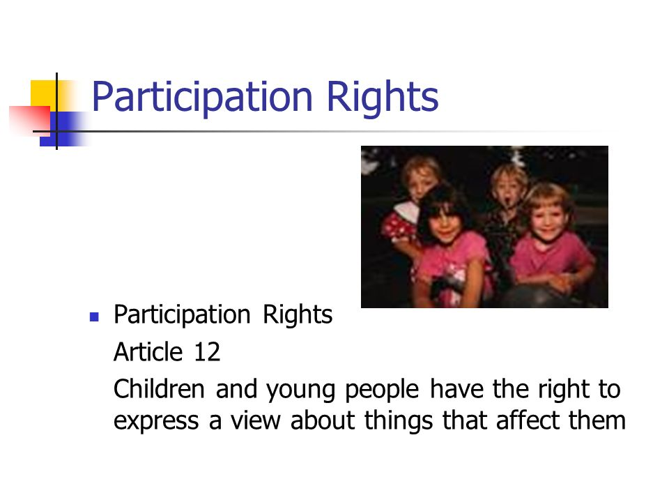 Participation Rights Participation Rights Article 12