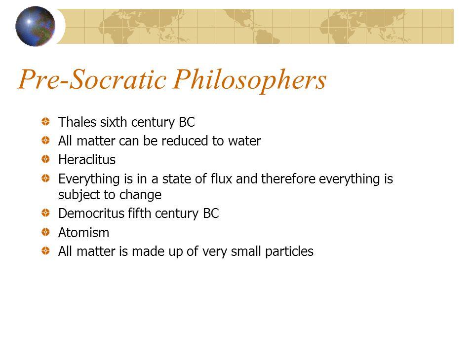 Pre-Socratic Philosophers