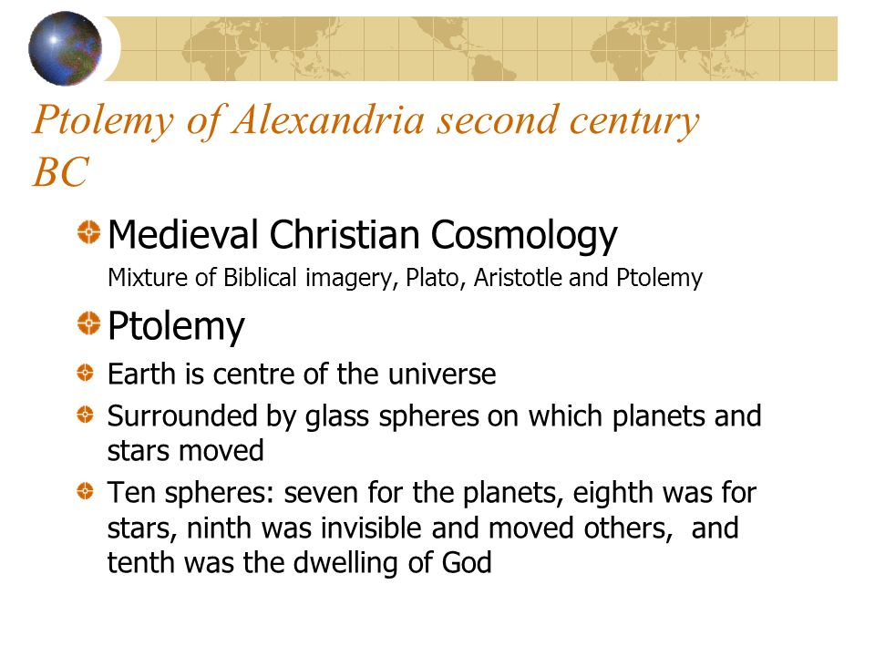Ptolemy of Alexandria second century BC