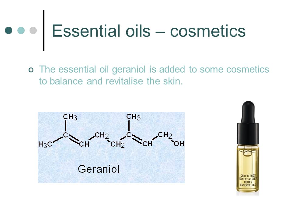 Essential oils – cosmetics