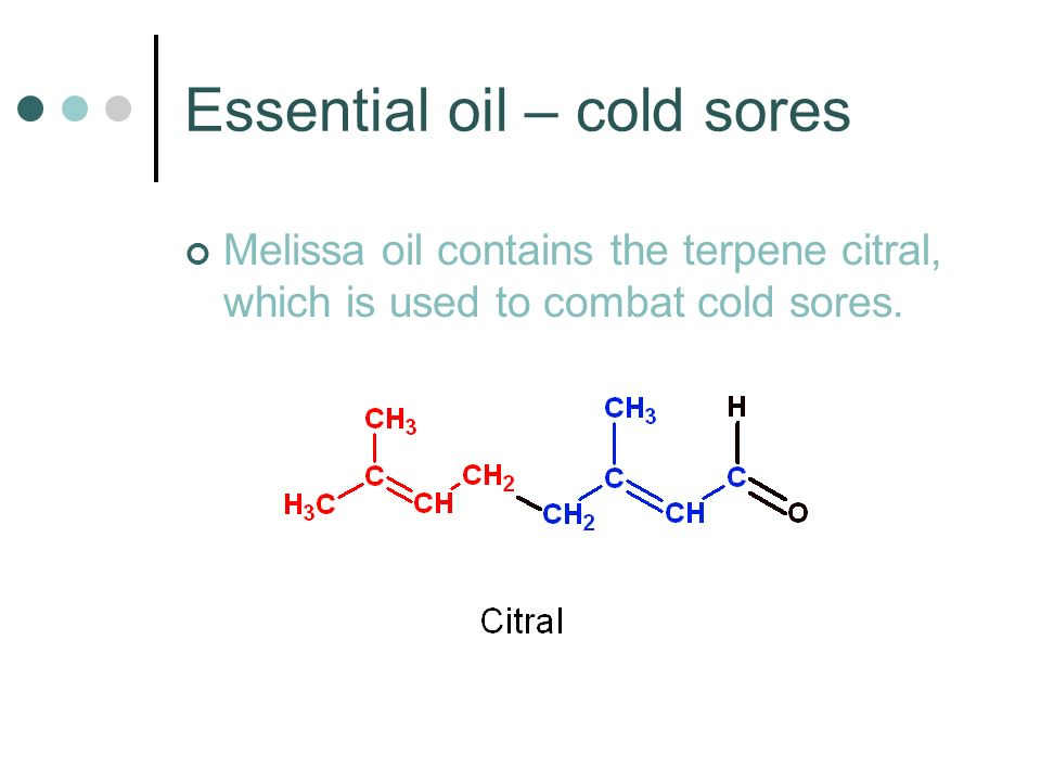 Essential oil – cold sores