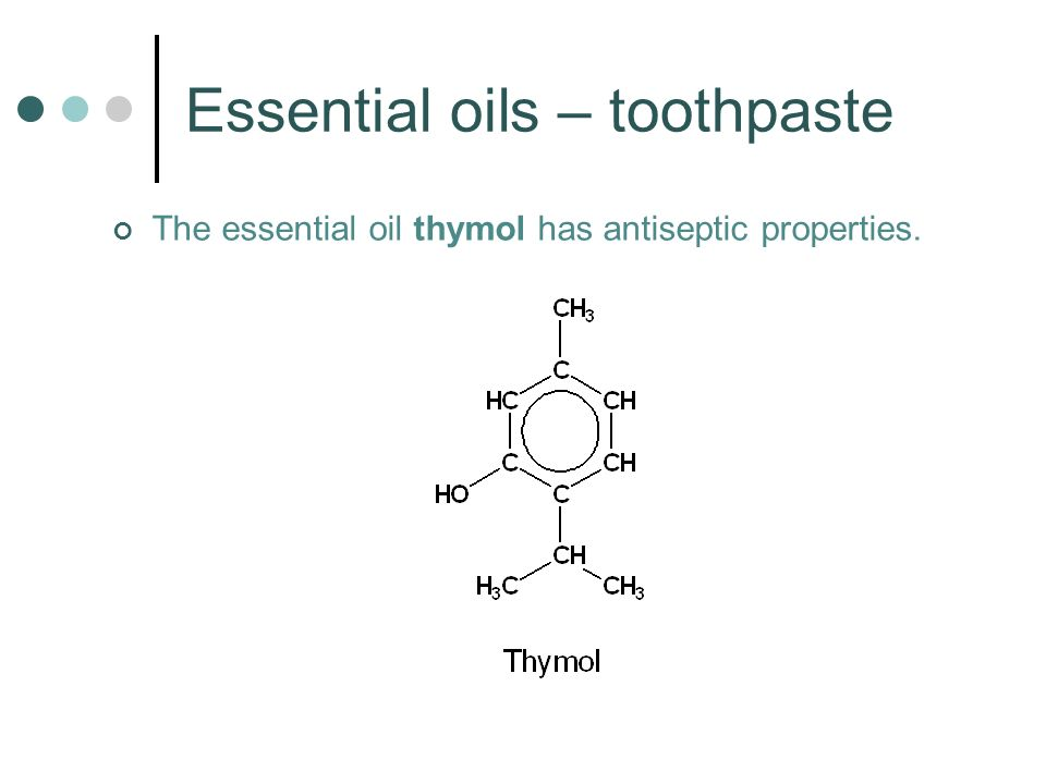 Essential oils – toothpaste