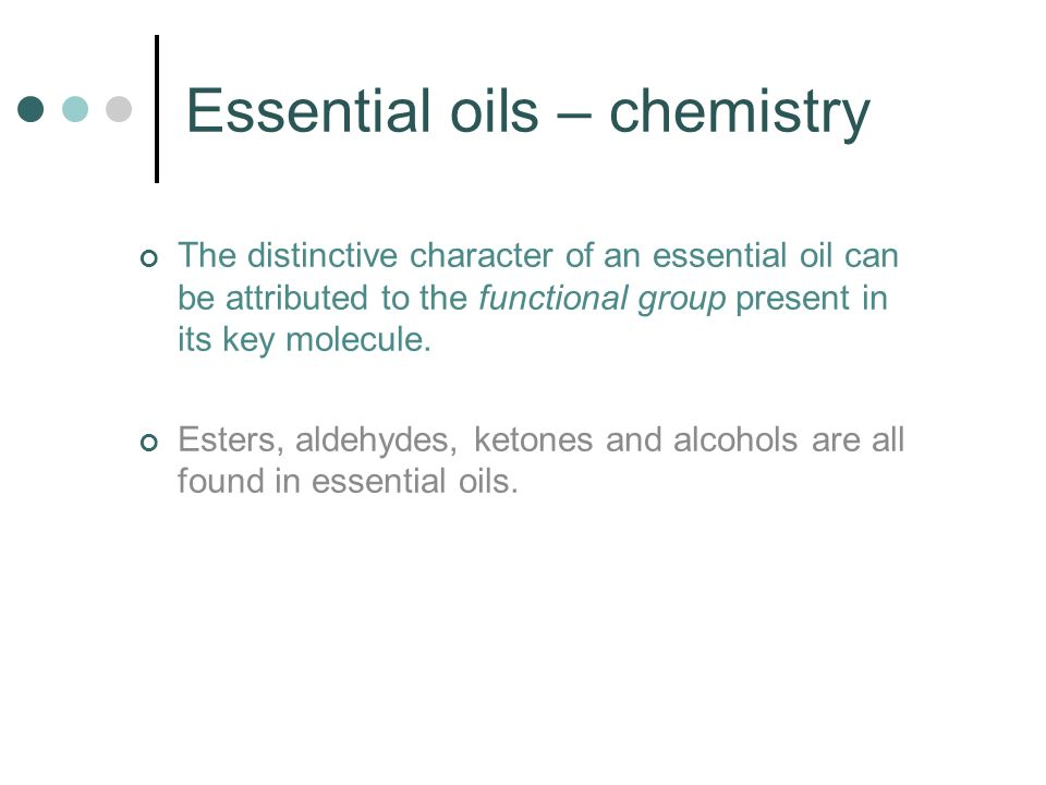 Essential oils – chemistry