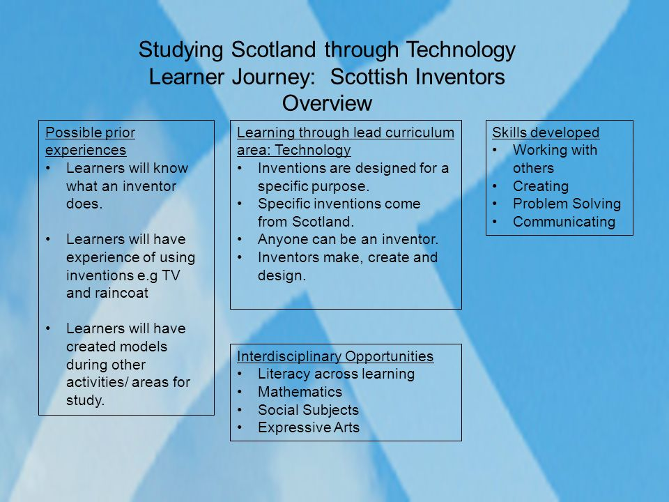 Studying Scotland through Technology