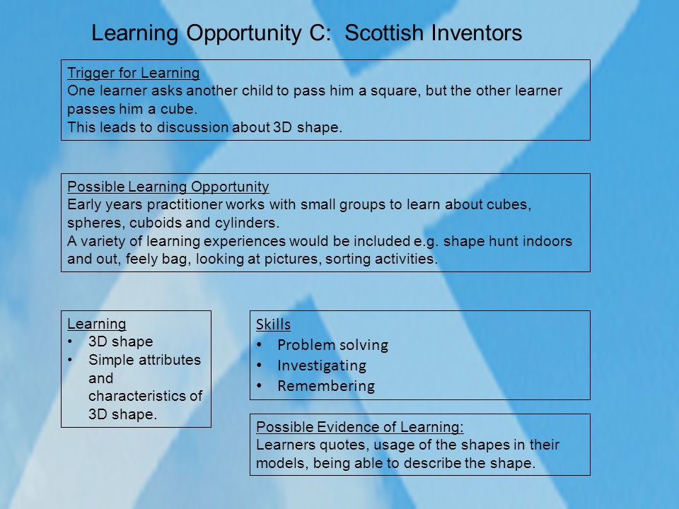 Learning Opportunity C: Scottish Inventors