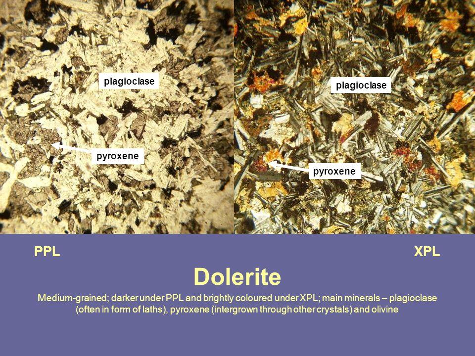 plagioclase plagioclase. pyroxene. pyroxene.