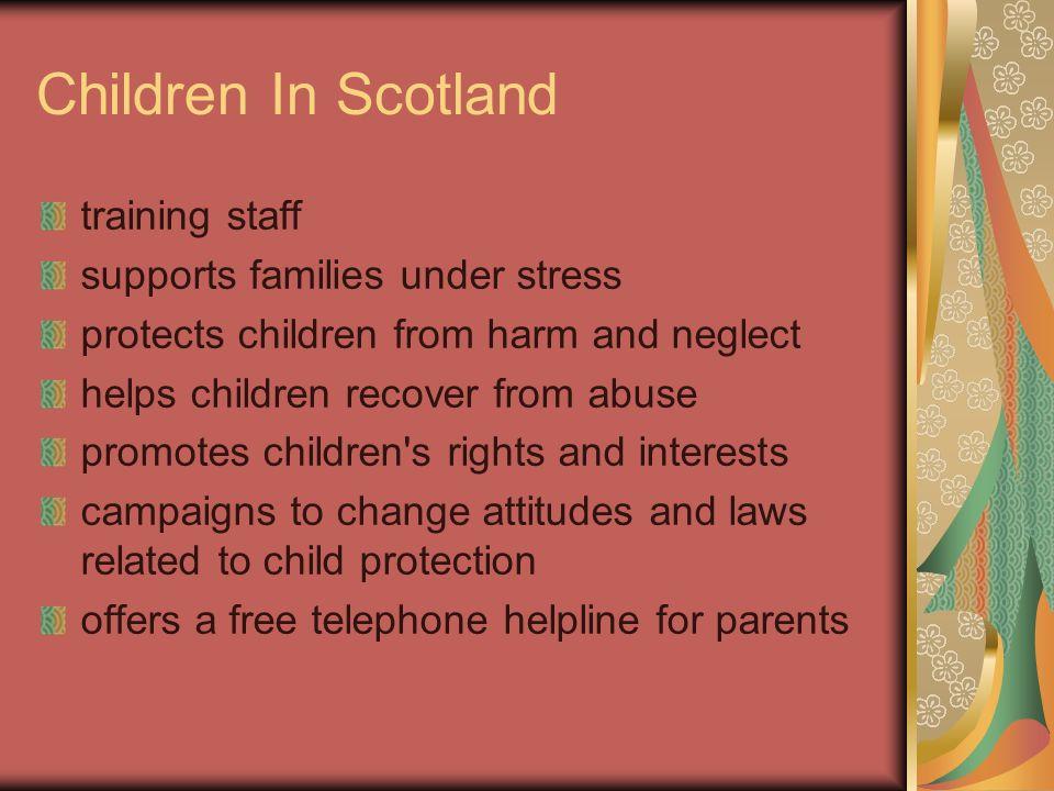 Children In Scotland training staff supports families under stress