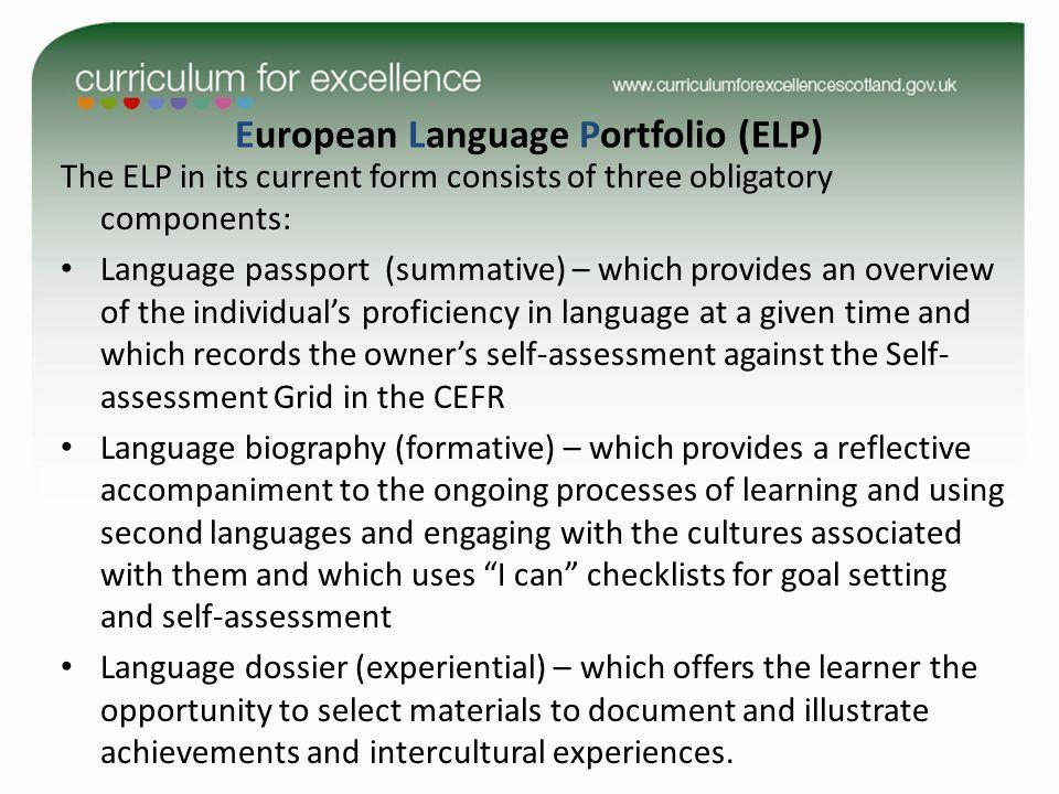 European Language Portfolio (ELP)