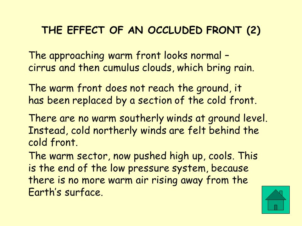 THE EFFECT OF AN OCCLUDED FRONT (2)