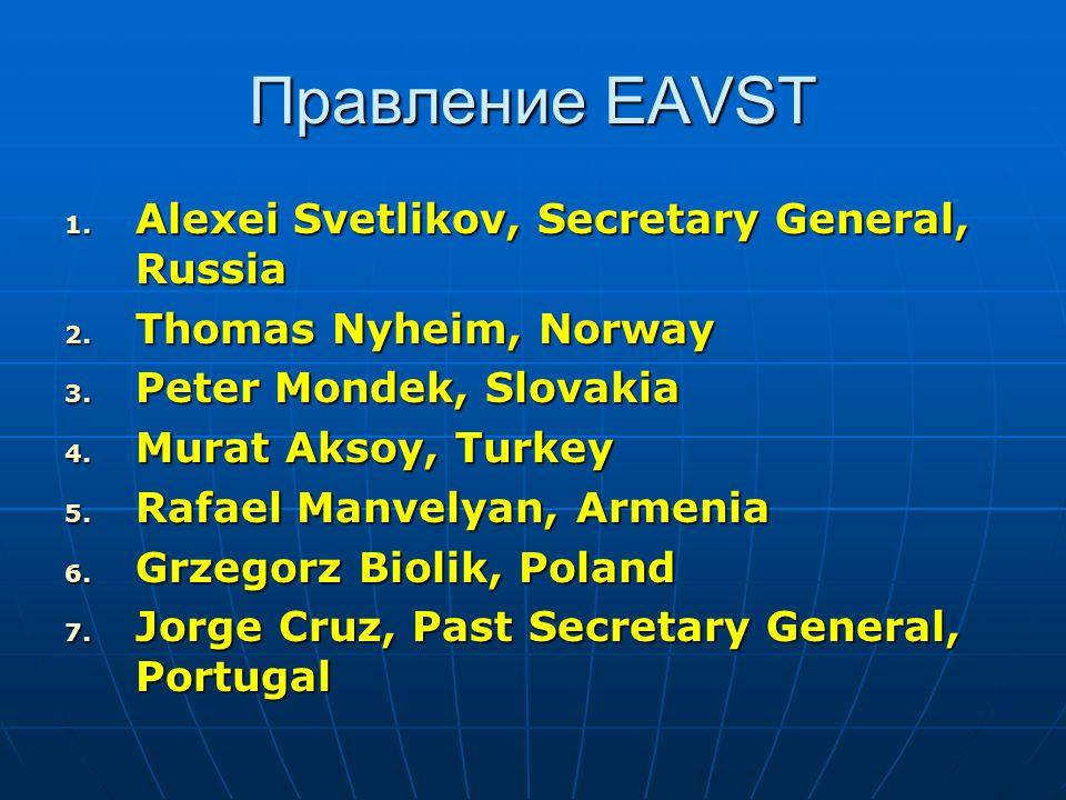 Правление EAVST Alexei Svetlikov, Secretary General, Russia