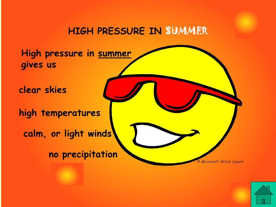HIGH PRESSURE IN SUMMER