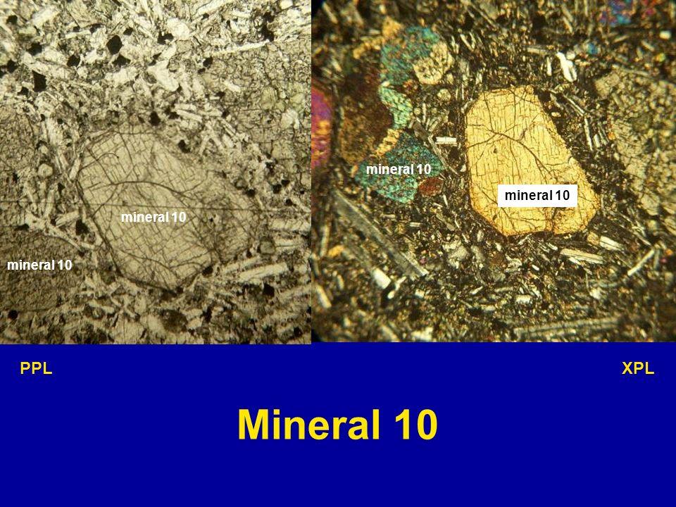 mineral 10 mineral 10 mineral 10 mineral 10 PPL XPL Mineral 10