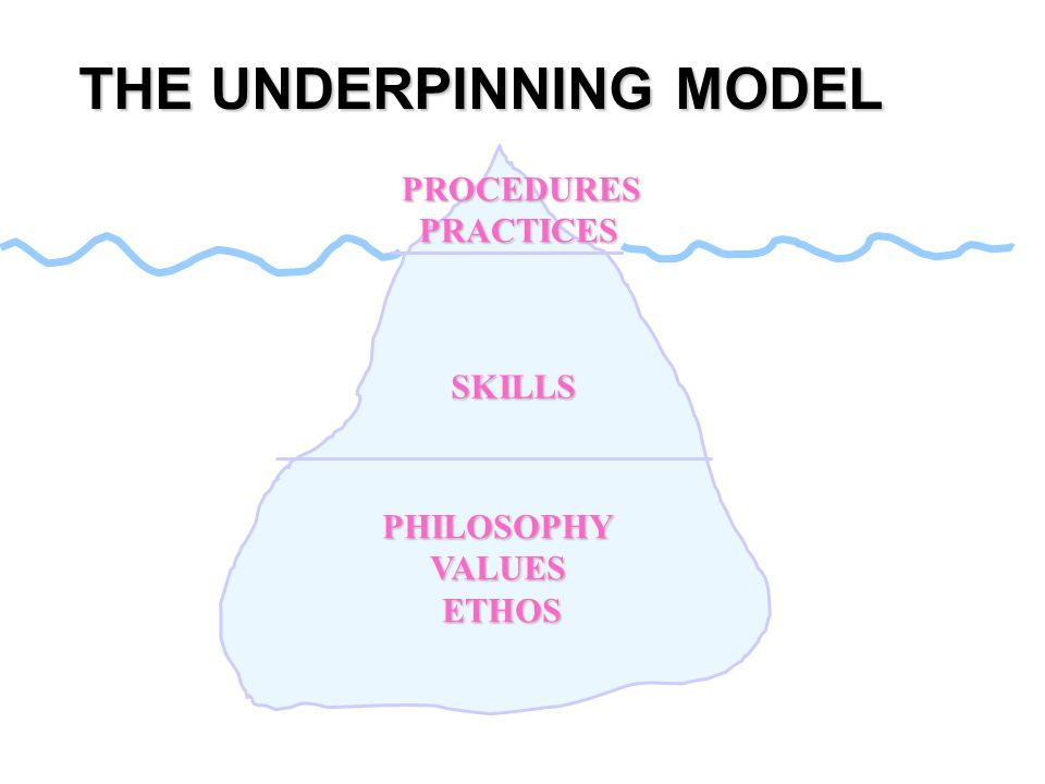THE UNDERPINNING MODEL