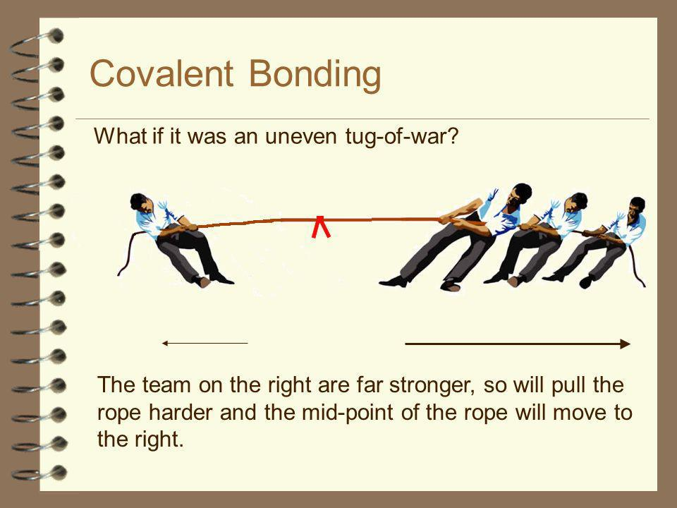 Covalent Bonding What if it was an uneven tug-of-war