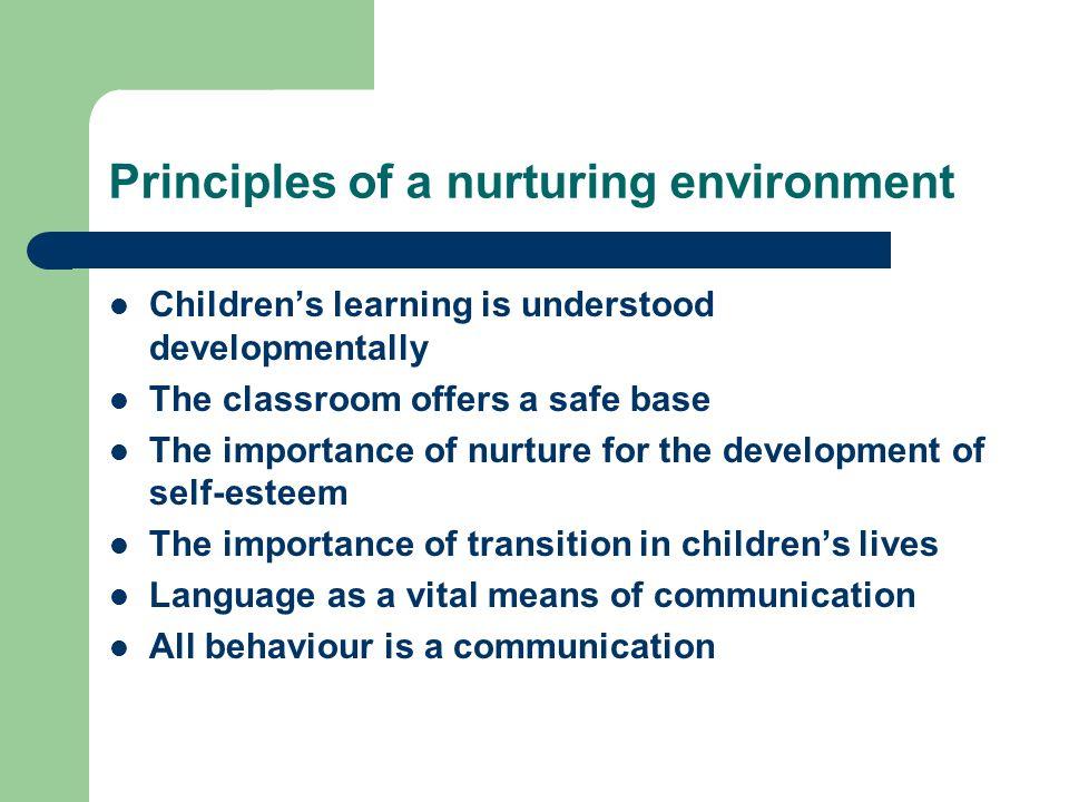 Principles of a nurturing environment