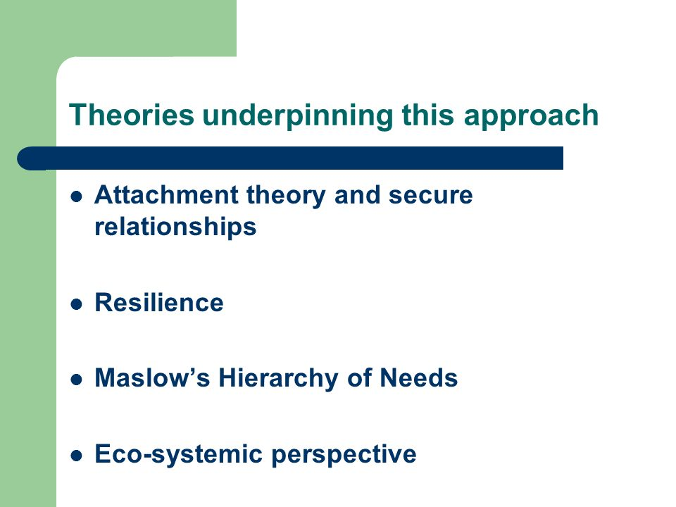 Theories underpinning this approach