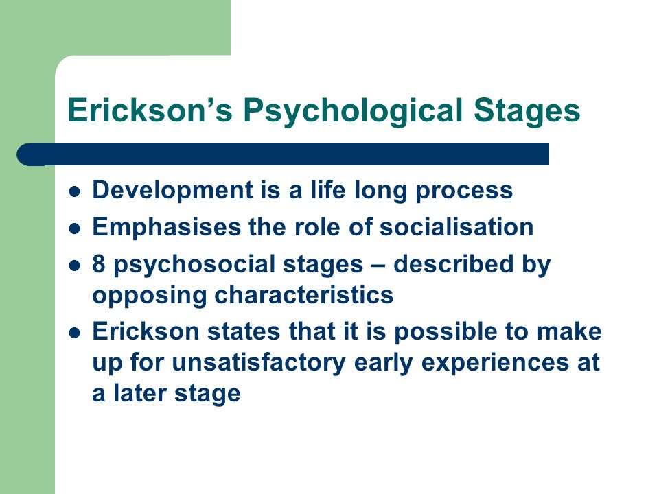Erickson's Psychological Stages
