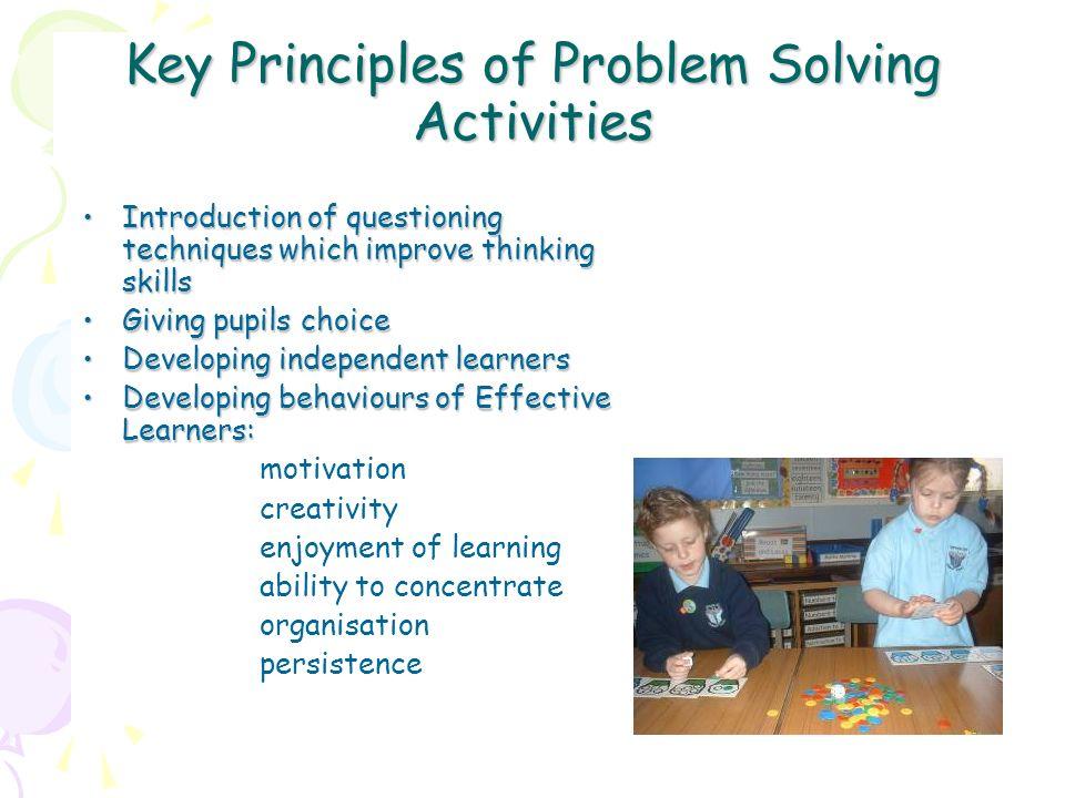 Key Principles of Problem Solving Activities