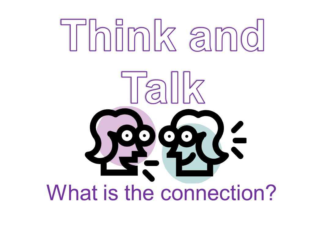 Think and Talk What is the connection