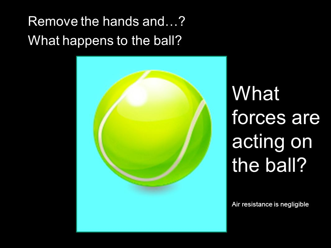 What forces are acting on the ball