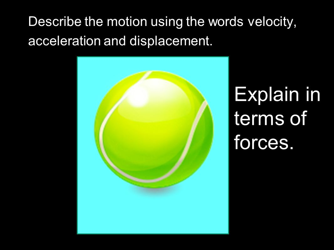Explain in terms of forces.