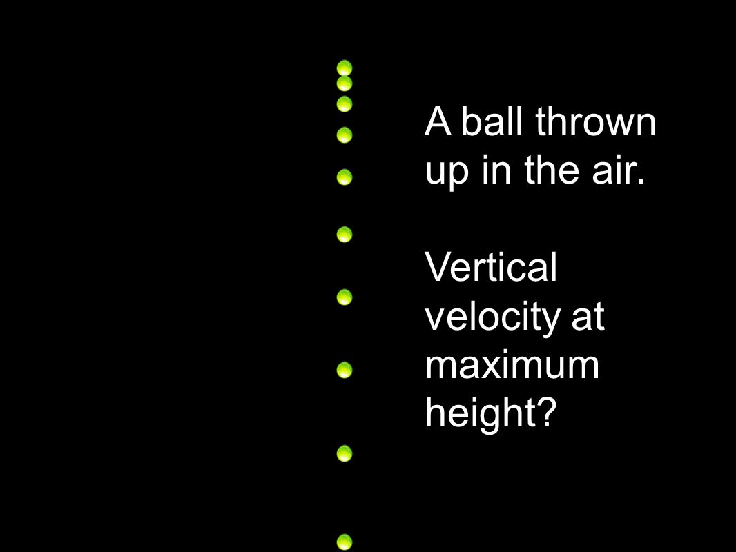 A ball thrown up in the air.