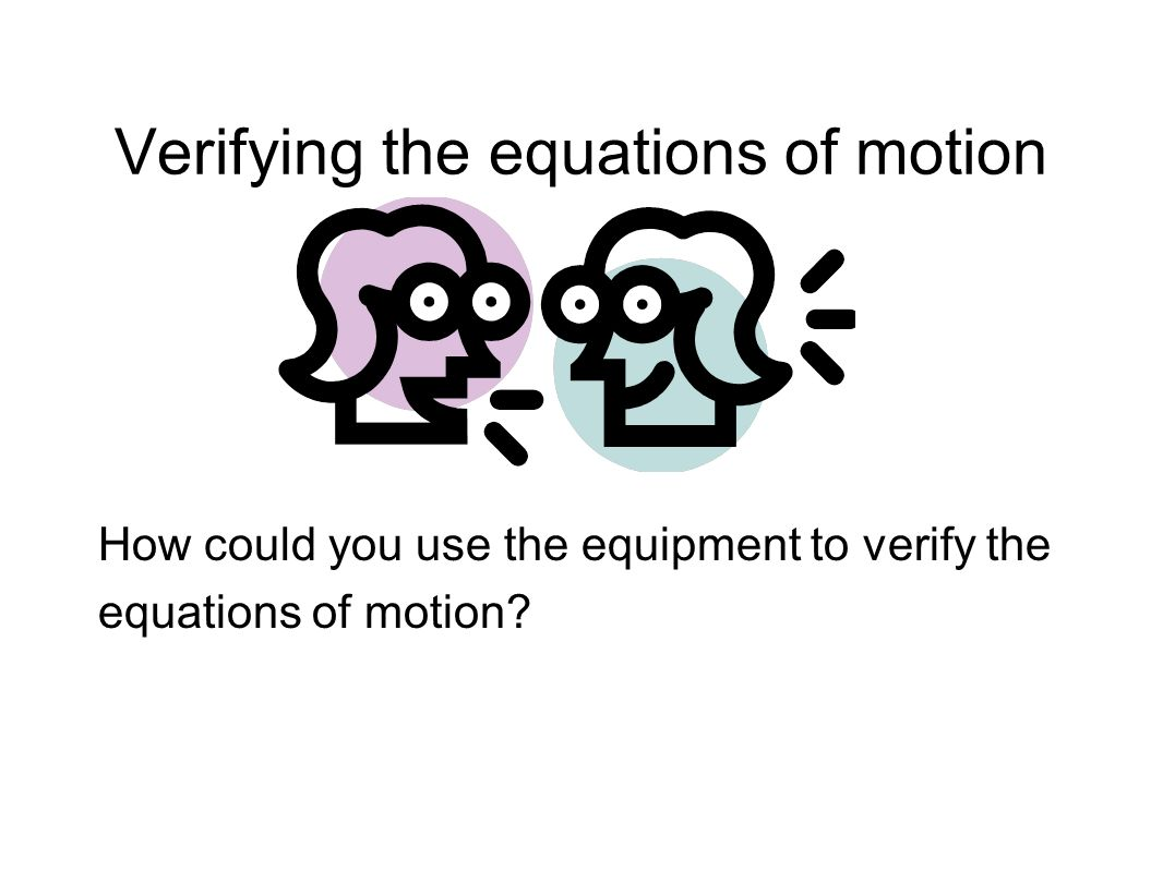 Verifying the equations of motion