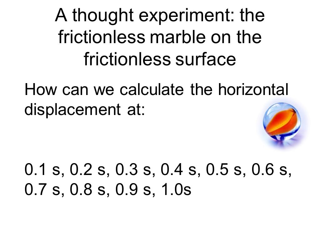 A thought experiment: the frictionless marble on the frictionless surface
