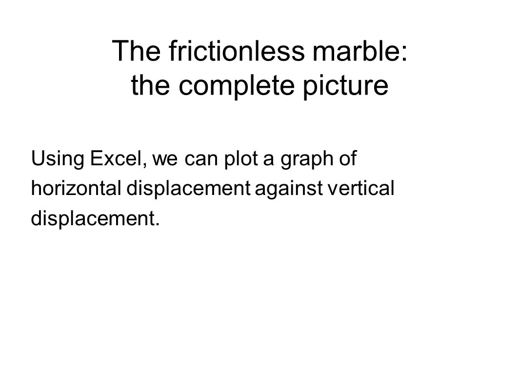 The frictionless marble: the complete picture