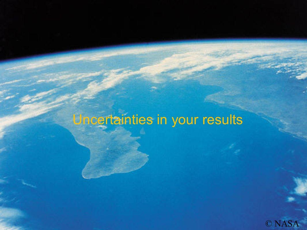 Uncertainties in your results