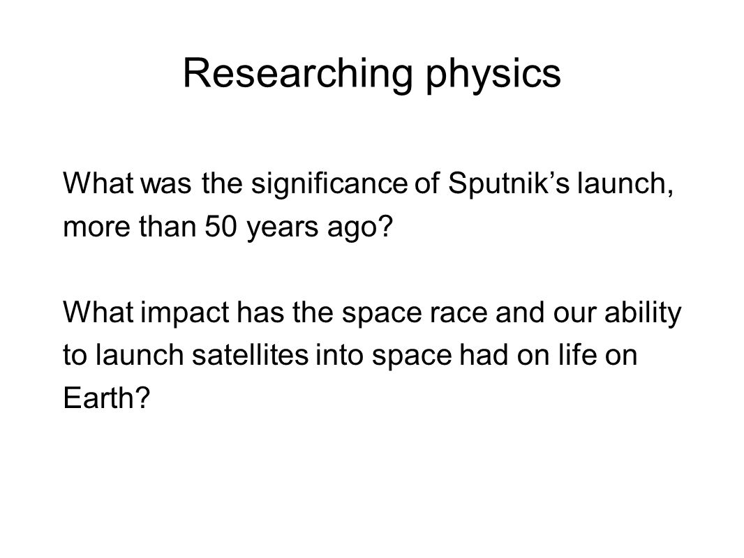 Researching physics