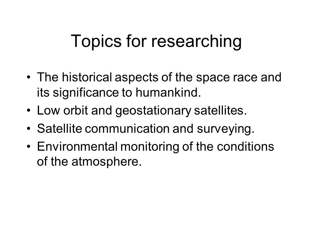 Topics for researching
