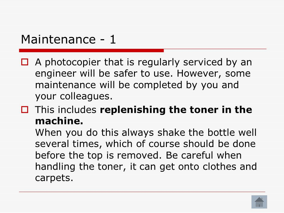 Maintenance - 1