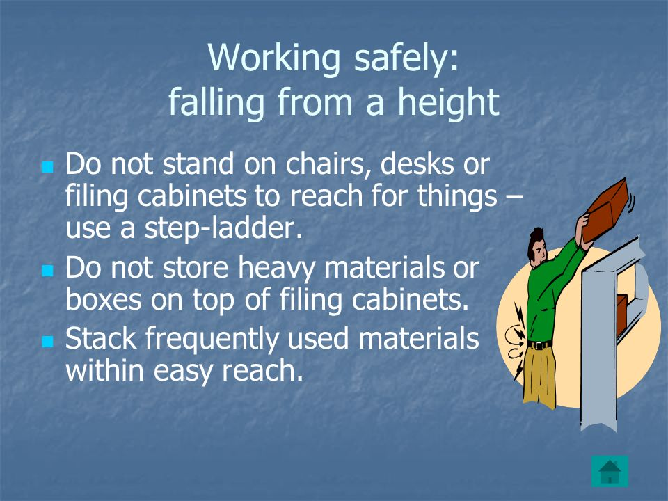 Working safely: falling from a height