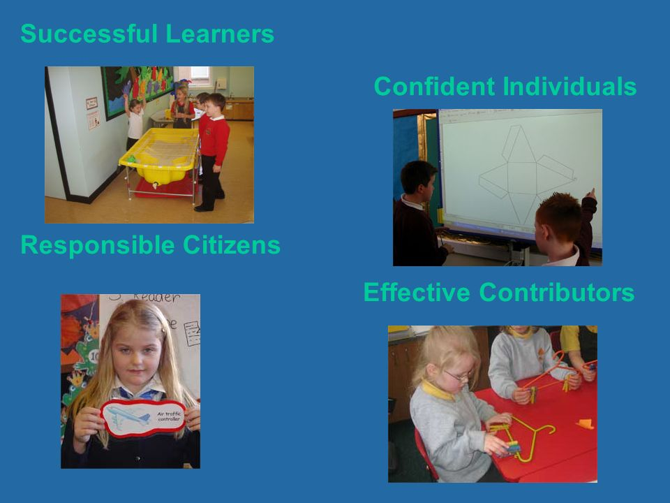 Successful Learners Confident Individuals Responsible Citizens Effective Contributors