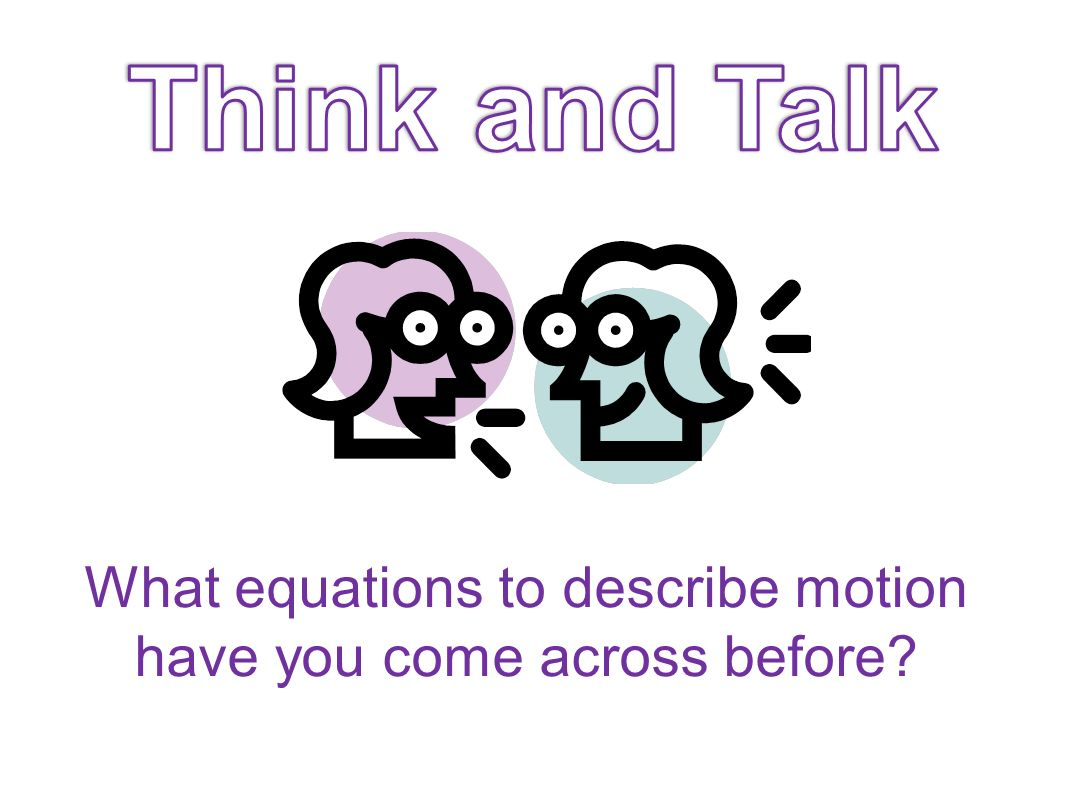 What equations to describe motion have you come across before