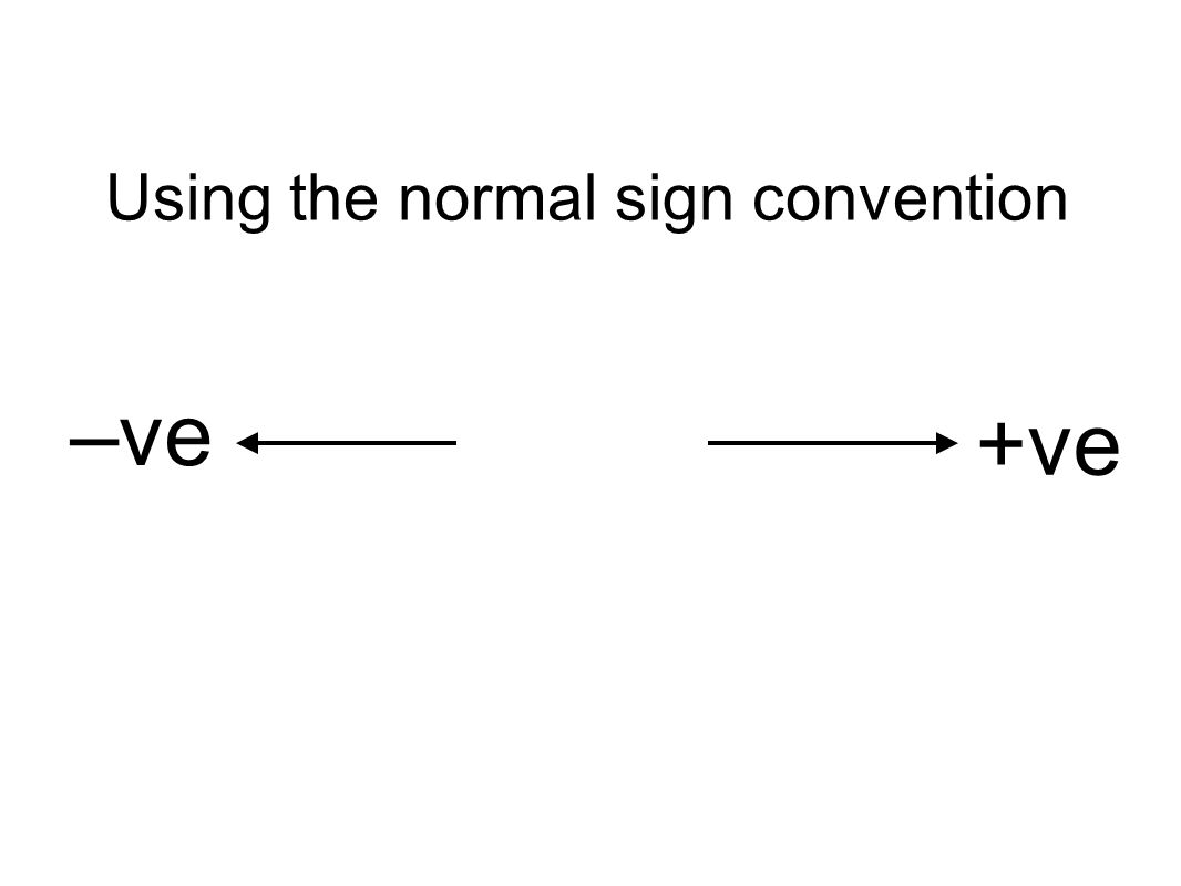 Using the normal sign convention