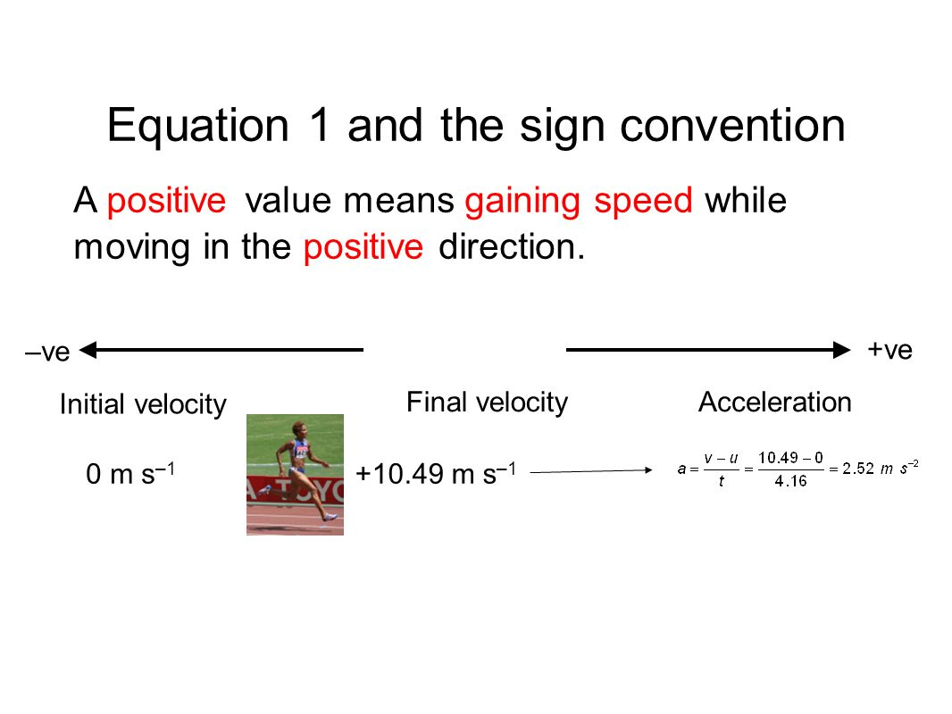 Equation 1 and the sign convention