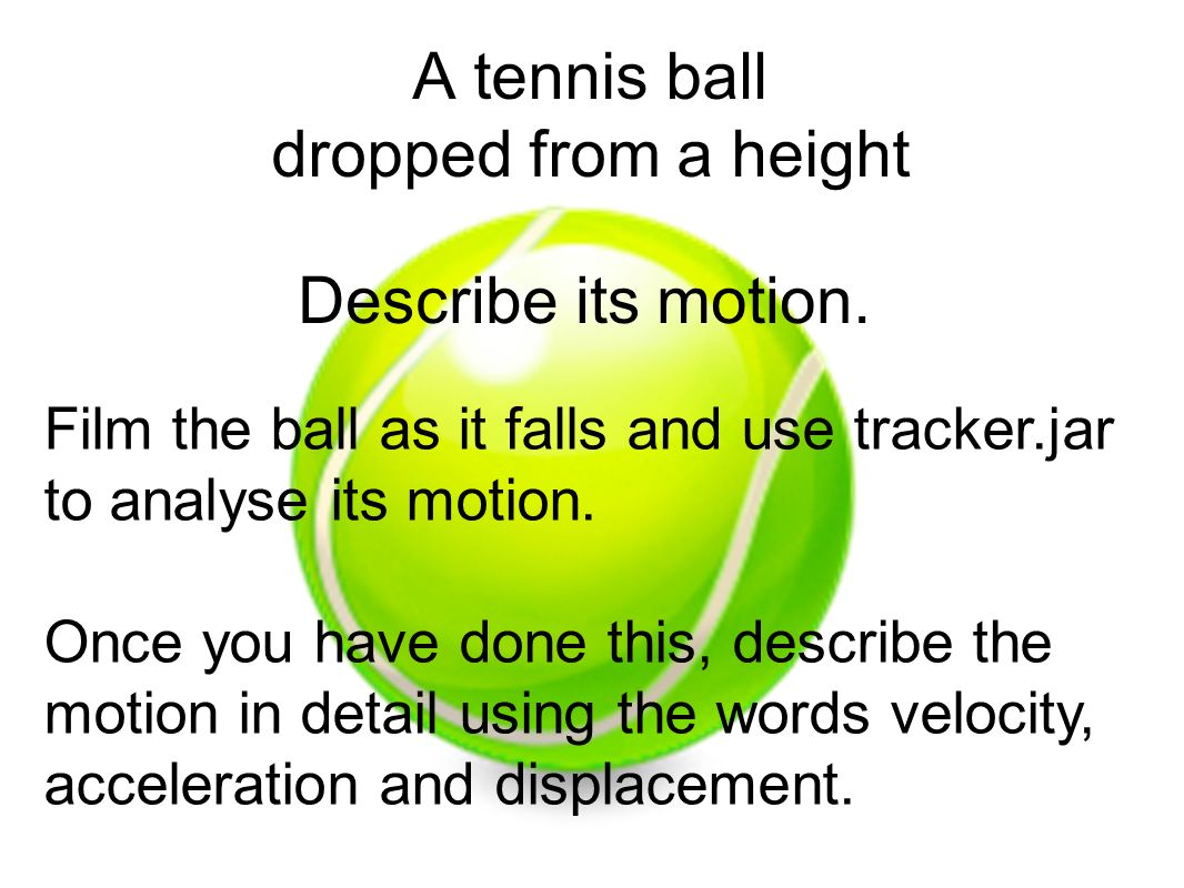 A tennis ball dropped from a height