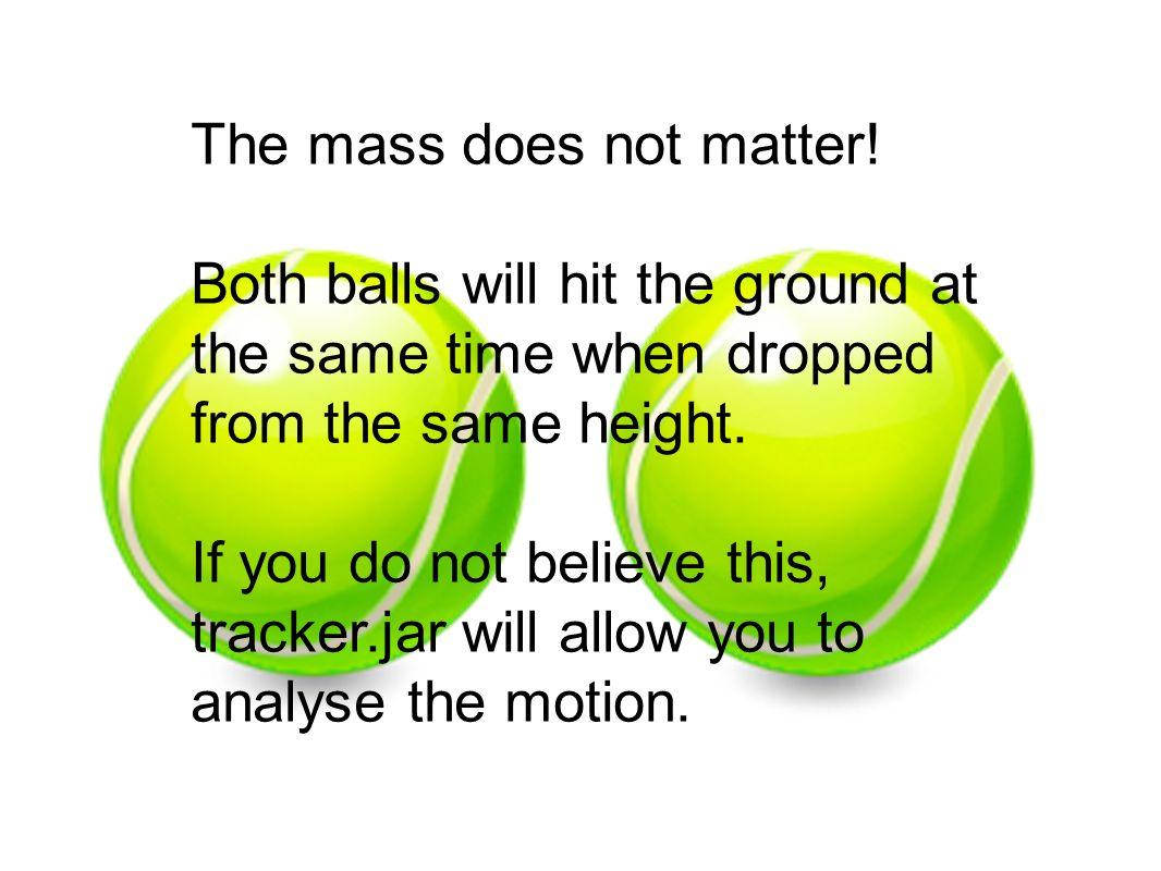The mass does not matter!