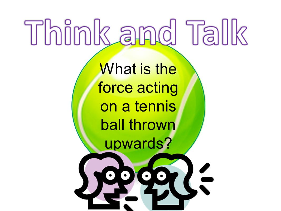 What is the force acting on a tennis ball thrown upwards