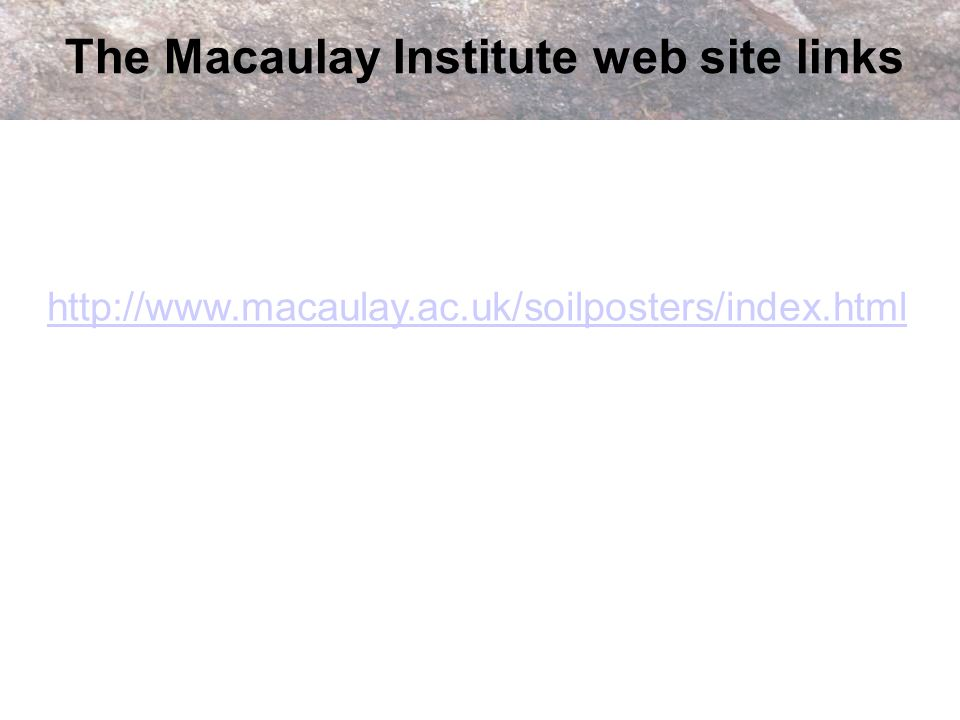 The Macaulay Institute web site links