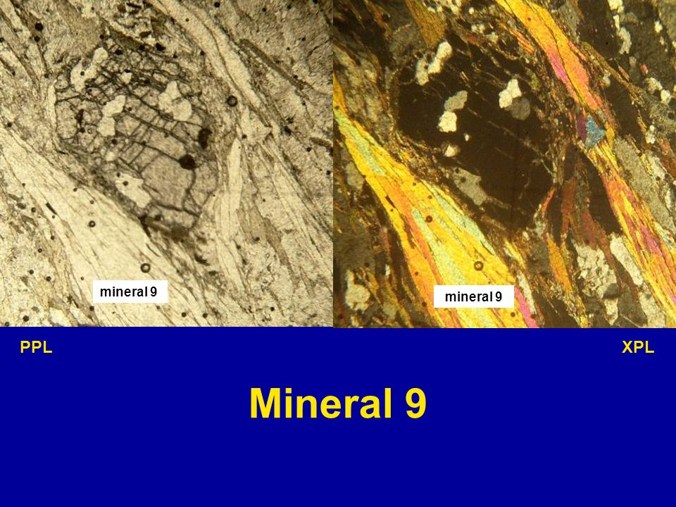 mineral 9 mineral 9 PPL XPL Mineral 9