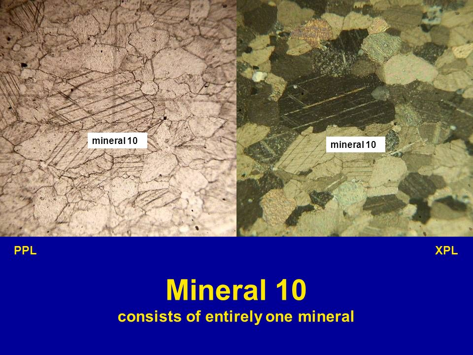 consists of entirely one mineral