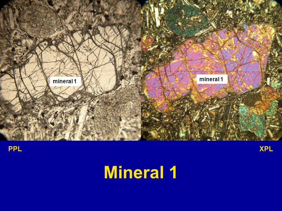 mineral 1 mineral 1 PPL XPL Mineral 1