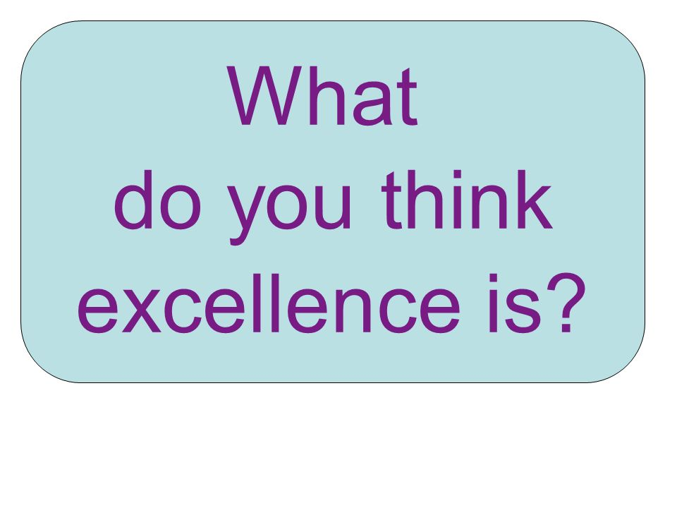 What do you think excellence is