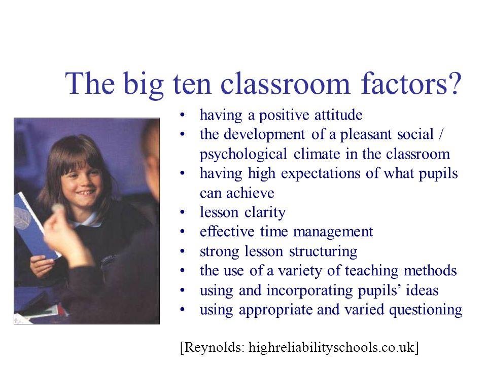 The big ten classroom factors