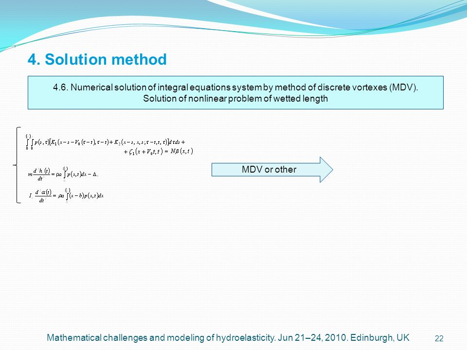 Solution of nonlinear problem of wetted length