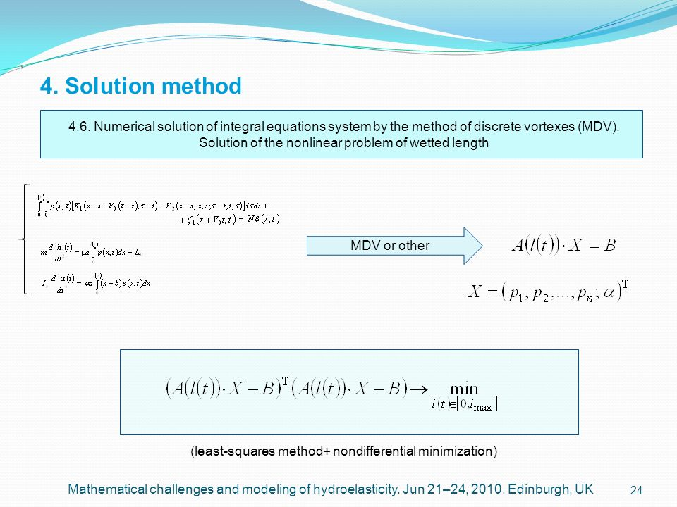 Solution of the nonlinear problem of wetted length