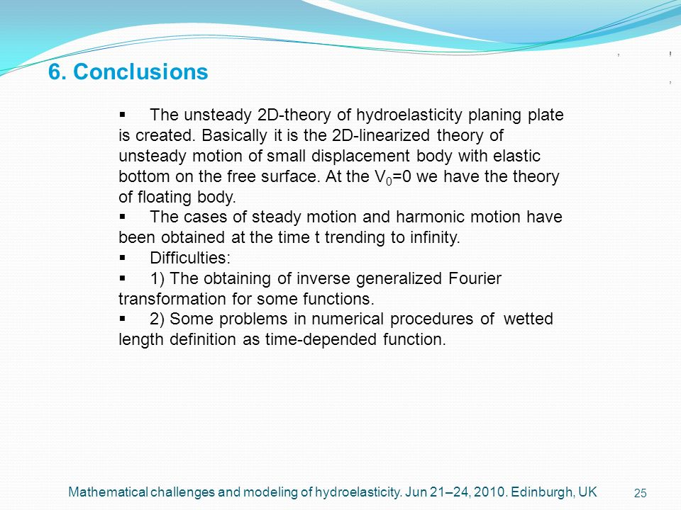 6. Conclusions, , , , ,